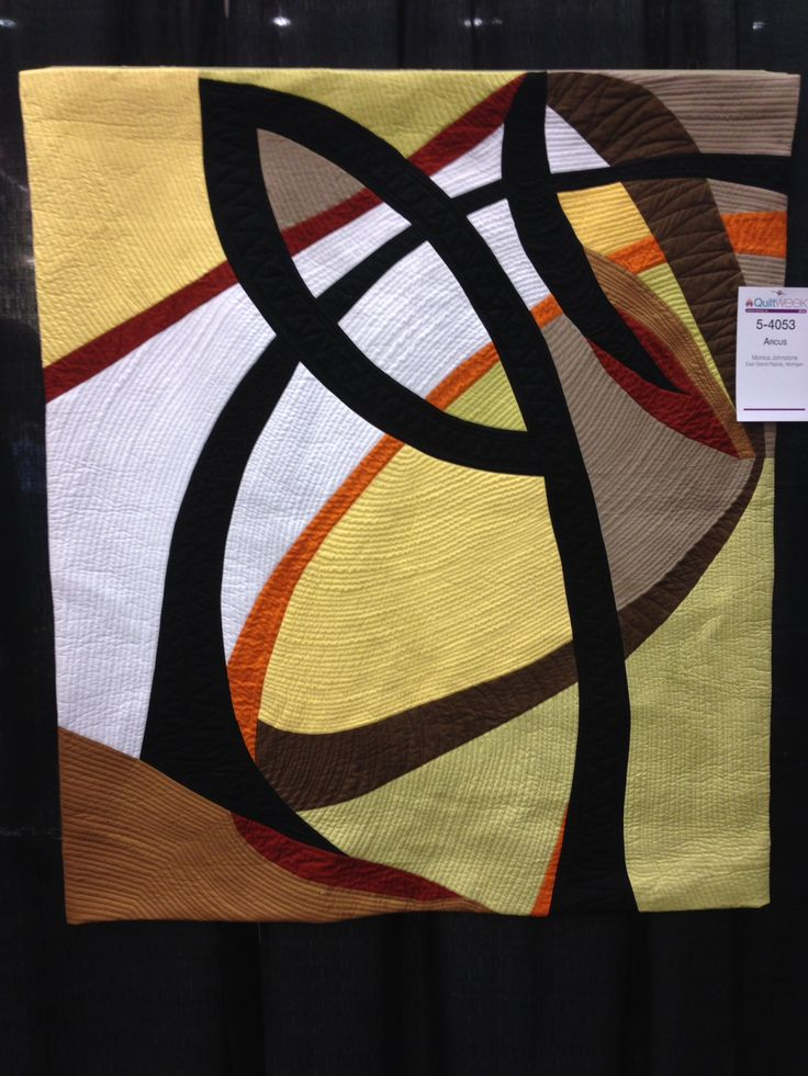 """Arcus"" by Monica Johnstone at 2014 AQS Quilt Week in Grand Rapids, Michigan. Amazing color selections!:"