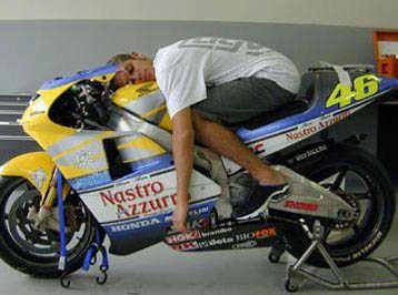 Valentino Rossi and his Honda NSR, it treated him quite well.