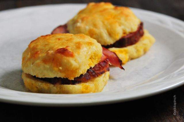 Ham and Cheddar Biscuits Recipe - Cooking | Add a Pinch | Robyn Stone