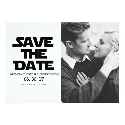 The Force | Alternative Save The Date | Sci Fi Star Wars www.zazzle.com/redefineddesigns?rf238262815644635252