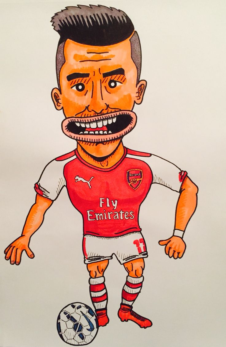 Alexis Sanchez #arsenal #alexis #sanchez #alexis17 #chile #illustration #drawing #afc #gunners #footballart