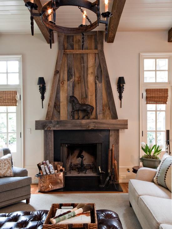 Barn wood FIreplace Design!