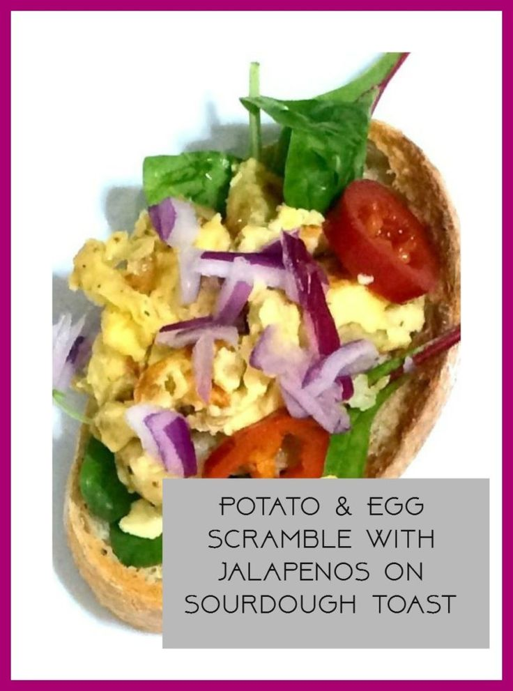 potato and egg scrambled with jalpenos on sourdough toast. This gorgeous street food breakfast snack is an absolute taste sensation, healthy easy vegetarian food at it's best