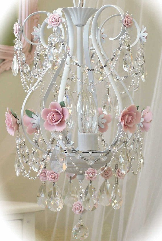 Vintage Baby Birdcage Chandelier - The Frog and the Princess