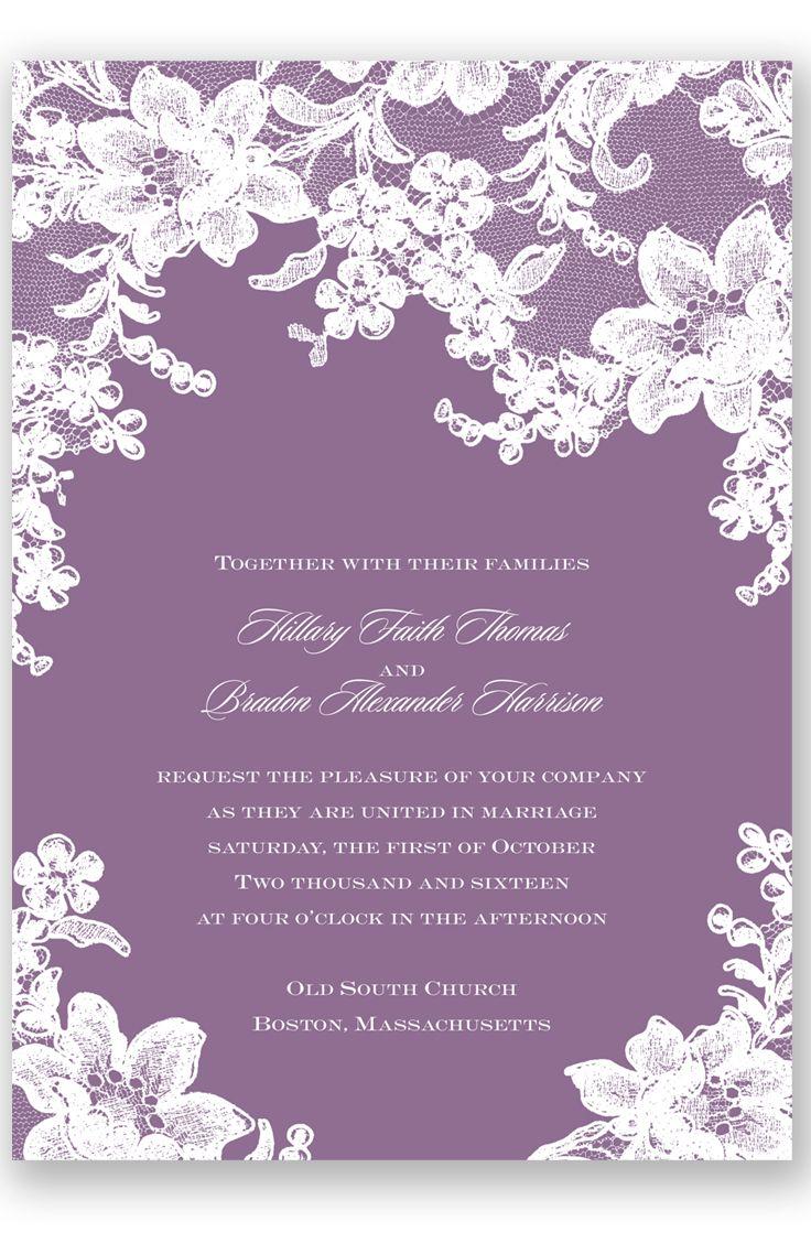 Lace Fantasy Wedding Invitation in Wisteria by David's Bridal