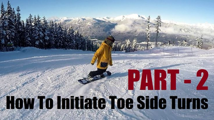How To Initiate Toe Side Turns - Part 2