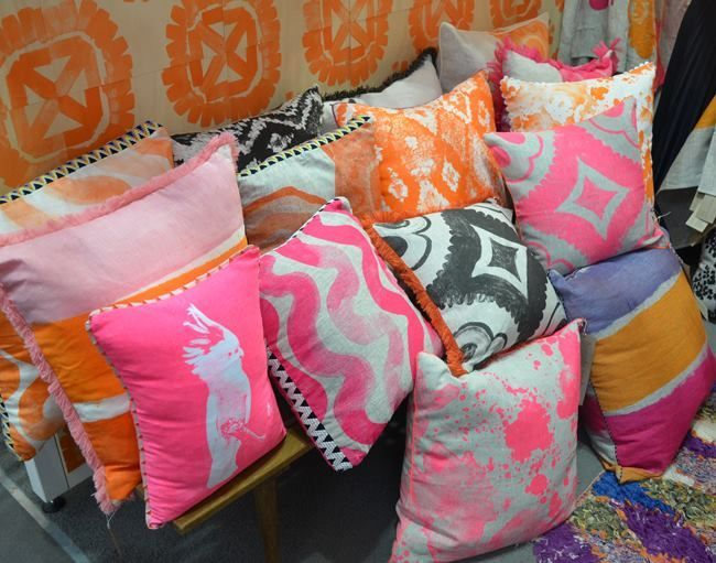 Bonnie and Neil Cushions | New Bonnie and Neil pillows feature handpainted or handprinted designs ...