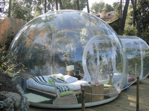 """This is amazing - A French """"Bubble Hotel"""" lets you sleep with nature...  Source: Green Renaissance"""