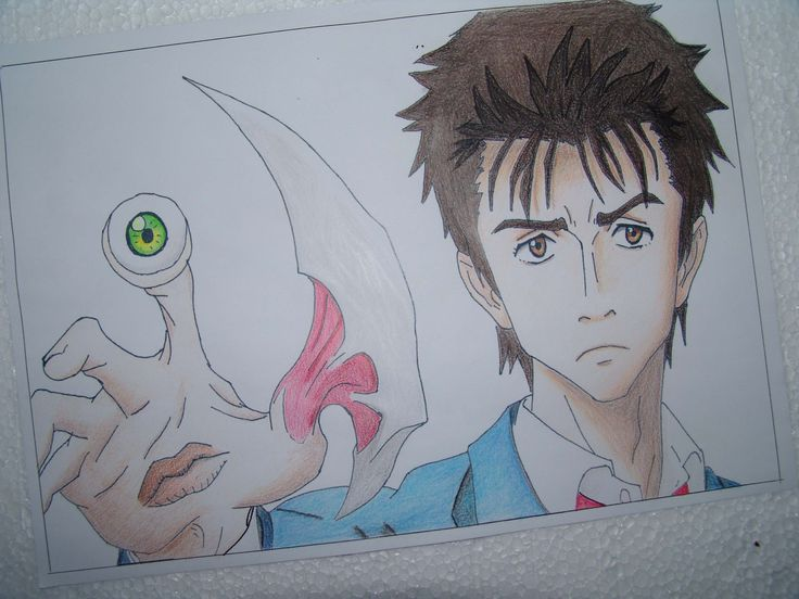 Parasyte Shinichi - colored Pencils