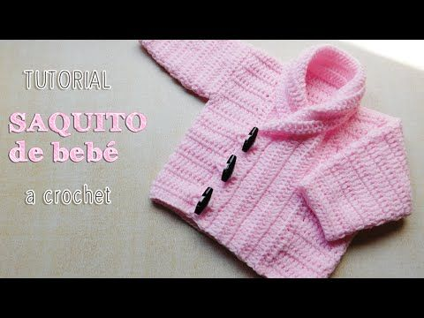 Abrigo de bebé unisex - Tutorial Crochet paso a paso (1 de 2) - YouTube                                                                                                                                                                                 Más