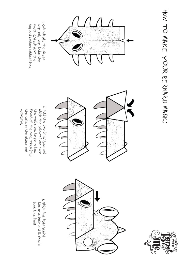 Instructions on how to make your very own Bernard the crocodile mask.
