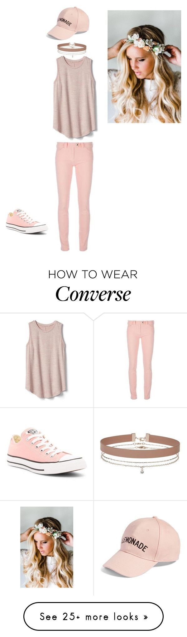 """Untitled #79"" by winchester-rose on Polyvore featuring Gap, Converse, Balenciaga, Emily Rose Flower Crowns, Amici Accessories and Miss Selfridge"