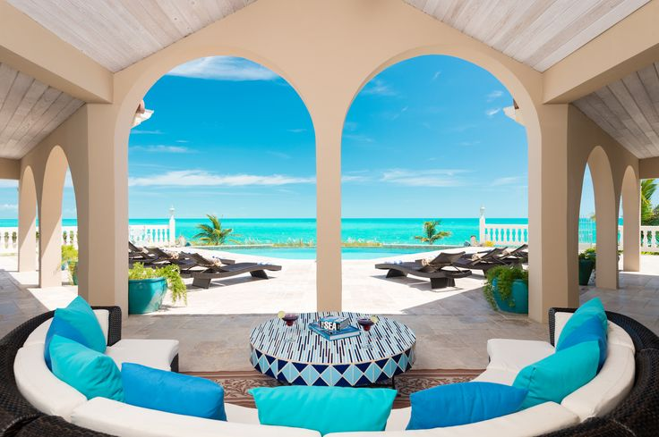 Conched Out Villa on Long Bay Beach in Providenciales, Turks and Caicos. www.tcvillas.com