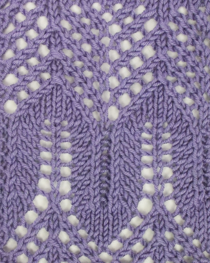 Knitting Stitches Mesh : Arches and Mesh Lace, another marvelous example of the beautiful stitches of ...