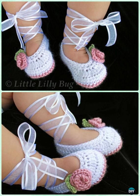 Tutorial Crochet Baby Ballet Booties : 17 Best ideas about Crochet Baby Girls on Pinterest ...