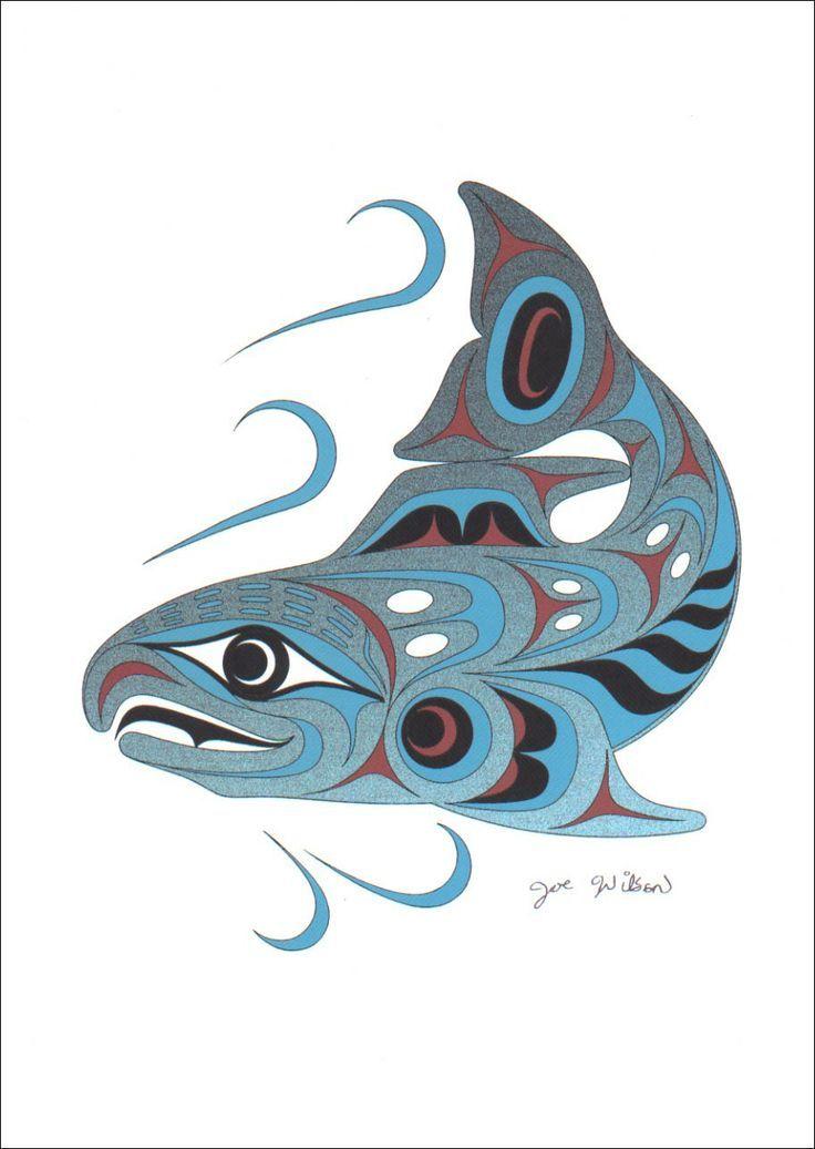 25 best ideas about salmon tattoo on pinterest haida art native art and haida tattoo. Black Bedroom Furniture Sets. Home Design Ideas