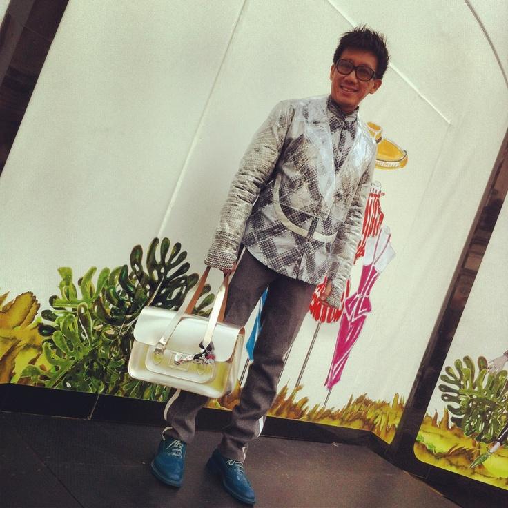 Daniel Boey does street style at London Fashion Week AW13