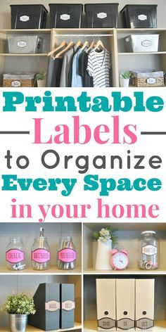 Your home is not completely organized until you add labels! Download these amazing printable labels to organize every space in your home! Get organized, organized home, organization labels, printable labels, organize my home, how to organize my home, pantry labels, pantry organization, office labels, office organization, craft room labels, craft room organization, Bathroom organization, linen closet organization, garage labels, clothing organization
