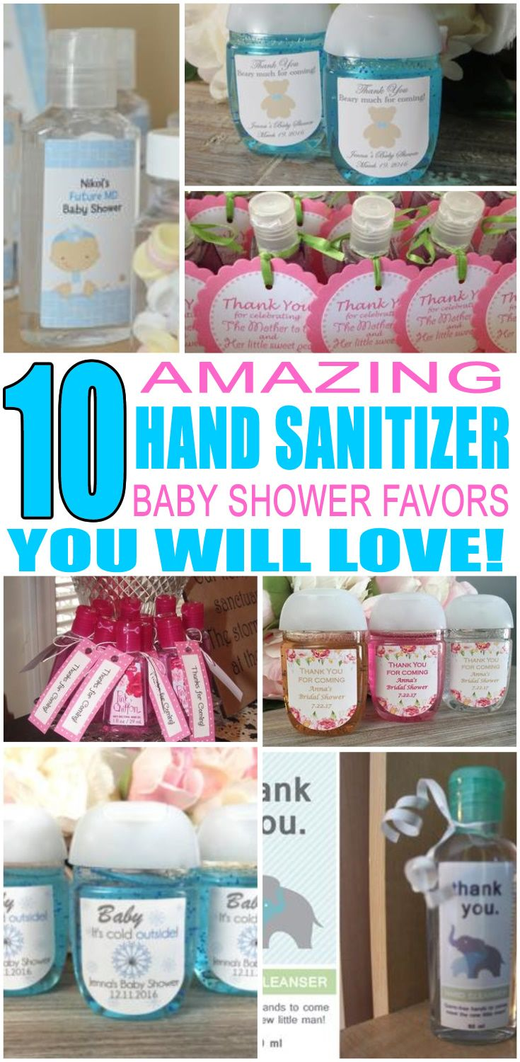 Hand Sanitizer Baby Shower Favors Baby Shower Favours For Guests