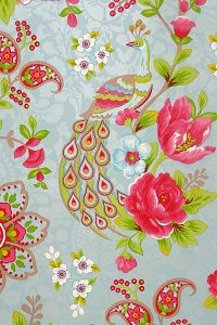 PiP Flowers in the Mix Light Blue wallpaper