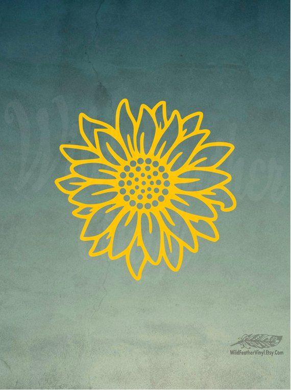 Sunflower Decal Free Shipping Yelow Sunflower Vinyl