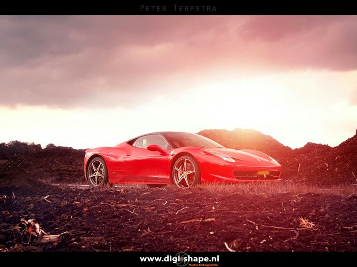 Ferrari 458 Italia, sunset