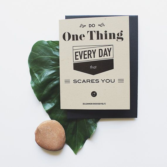 Roosevelt Blank Greeting Card Black Envelope by MessProject, €3.20 #papergoods #design #typography #card #greetingcard #stationary #stationarycard #quote #roosevelt
