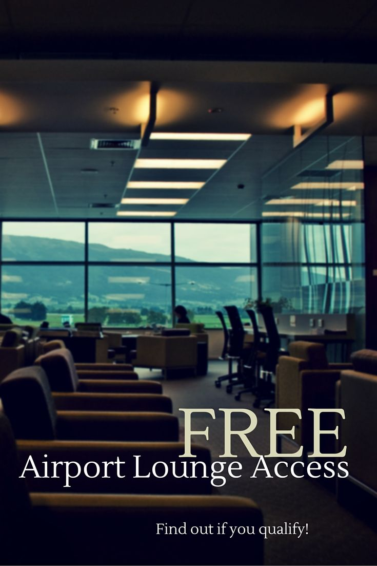 Some memberships qualify you for FREE airport lounge access (or highly discounted admission).  Find out how to spend your layovers in style at http://thegirlandglobe.com/free-lounge-access/