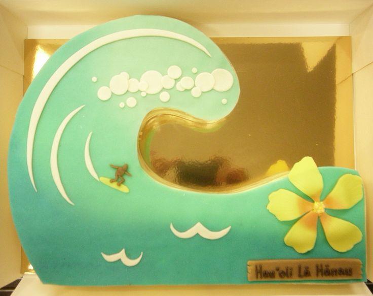 Surfeur et grosse vague by Pâtisserie Chez Bogato 7 rue Liancourt, Paris 14e. Ouvert du mardi au samedi de 10h à 19h. Tel. 01 40 47 03 51 Cake Design Birhtday cake Gâteau d'anniversaire