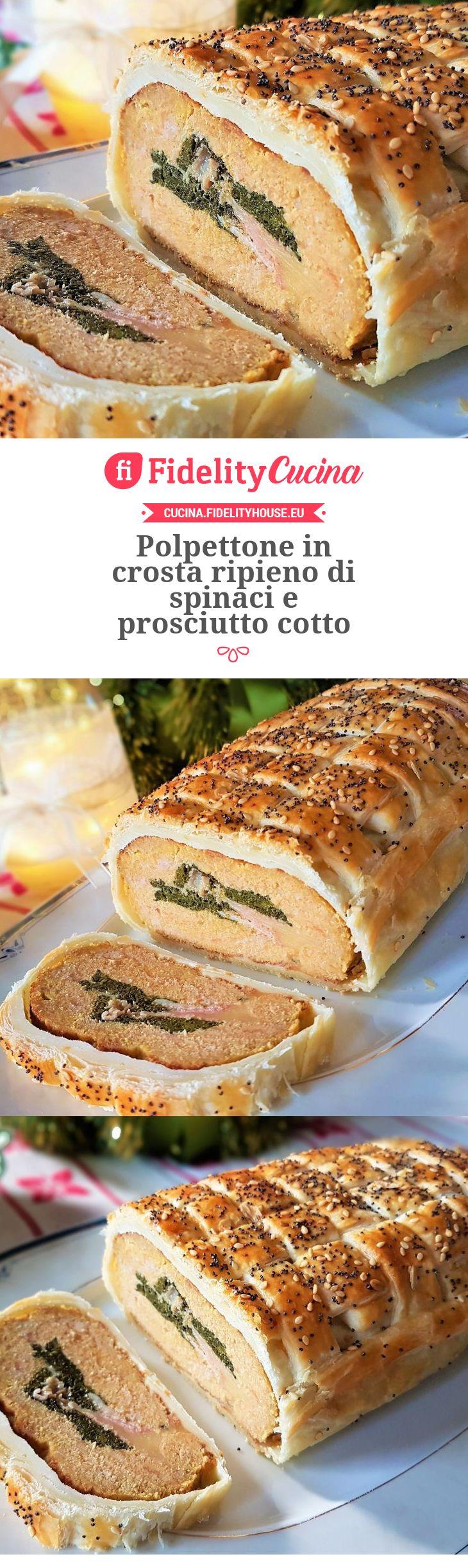 Polpettone in crosta ripieno di spinaci e prosciutto cotto