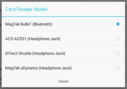Pairing the Bluetooth (Magtek Bullet) Reader – Toast POS