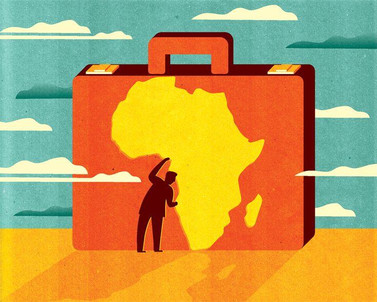 Kotryna Zukauskaite Ink - B-inspired Inflight Magazine Brussels Airlines Africa means Business http://joaniebrep.com/kotryna-zukauskaite-68/  #illustration #africa #business #travel
