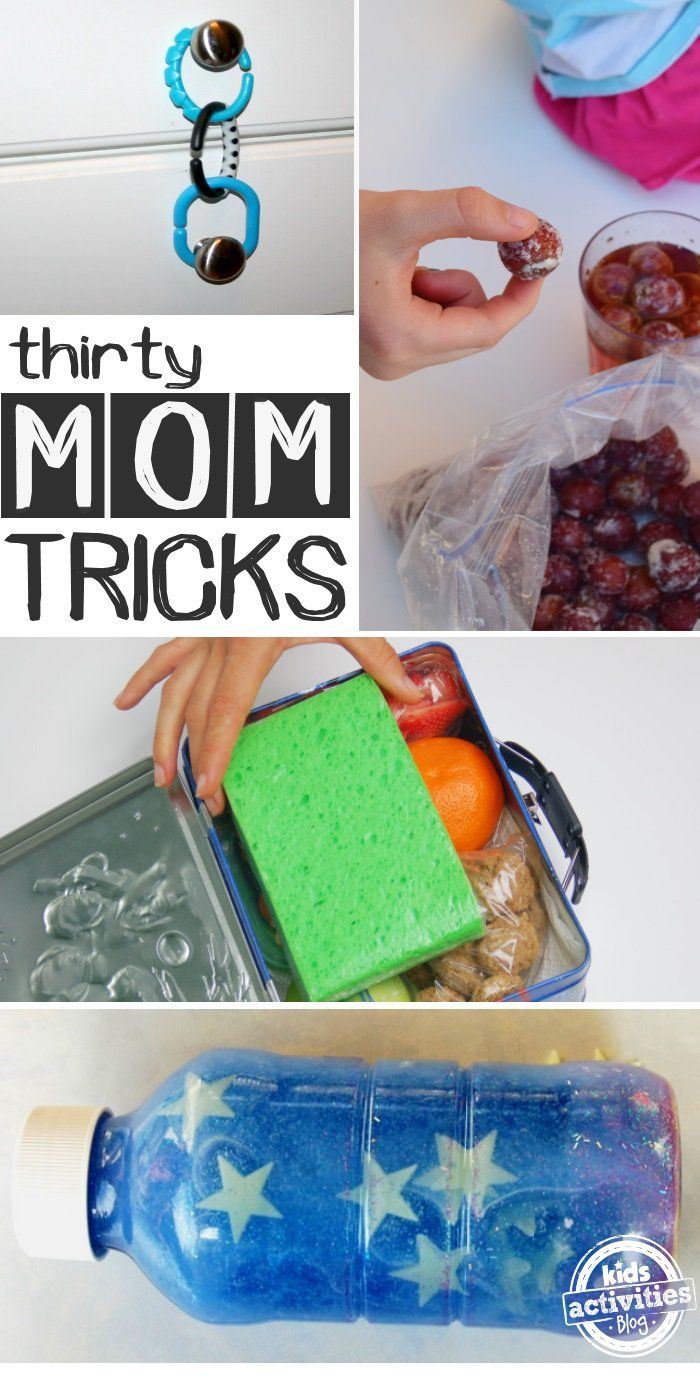 30 genius mom tricks! Great ideas for making being a mom a little easier.