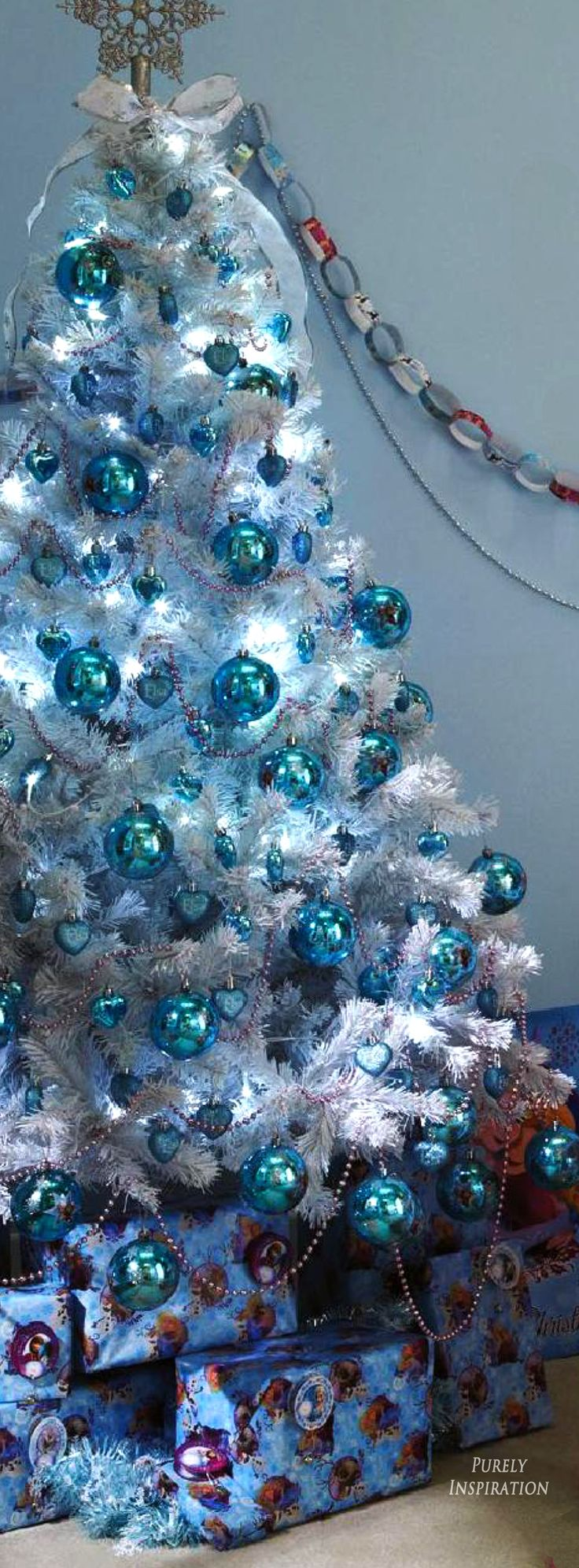 Blue christmas trees decorating ideas - Christmas Is Coming Blue Christmas Purely Inspiration