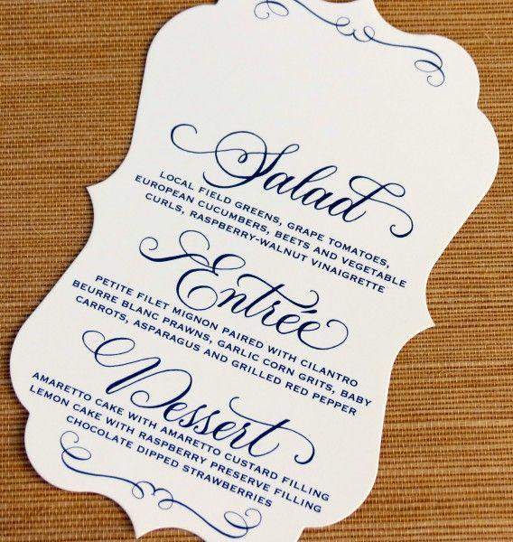 Wedding Menu Card (Orezzoli)