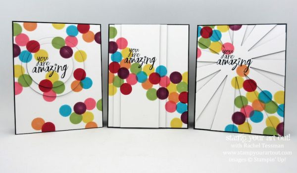 Dauber Fun! Click here to see the steps for making 3 cards fun card cards that pop with color with the help of sponge daubers…#stampyourartout - Stampin' Up!®️️ - Stamp Your Art Out! www.stampyourartout.com