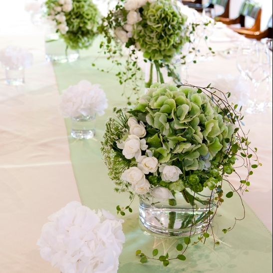 wedding flower white & green