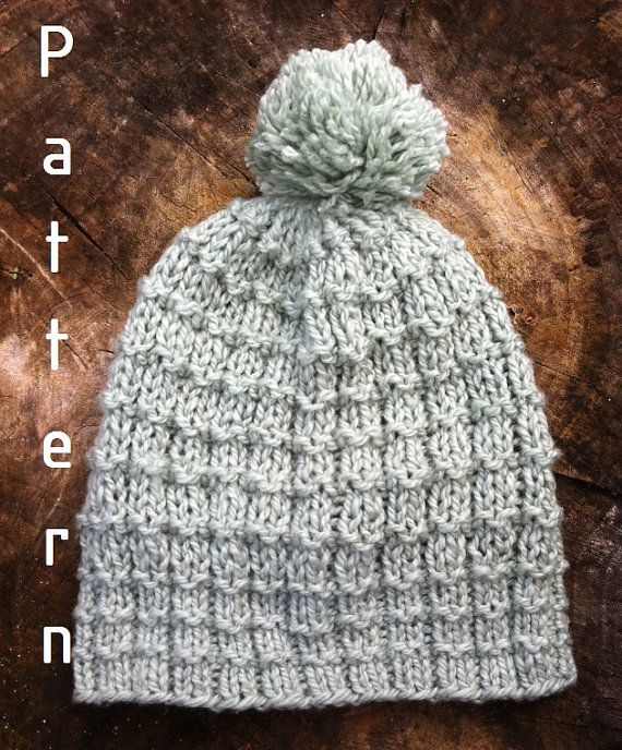 Knitting Pattern Light Green Boy Hat /toddler/ chlid/ by Mursulla