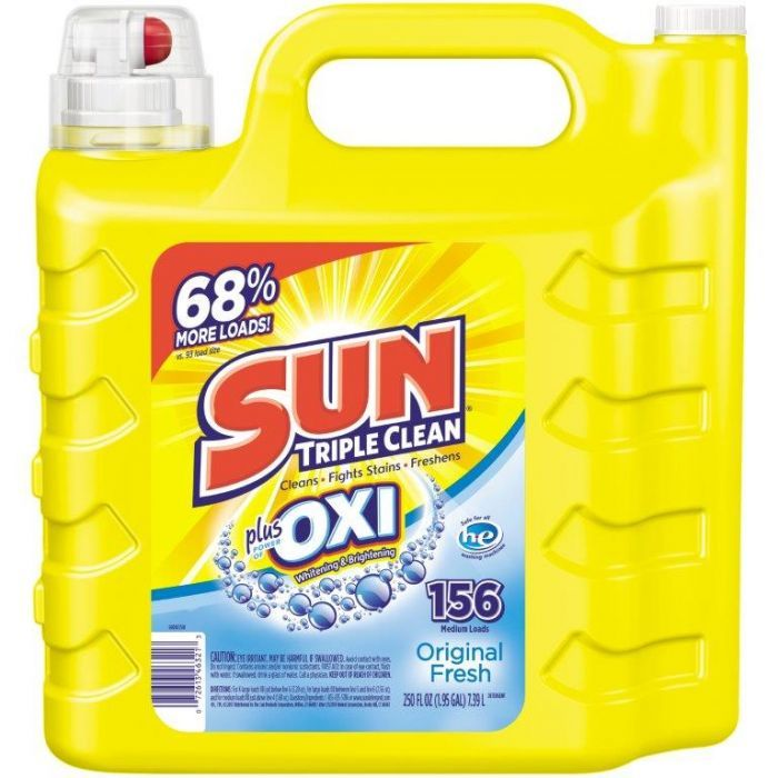 Sun Liquid Laundry Detergent Plus Oxi Stain Removers And Whiteners