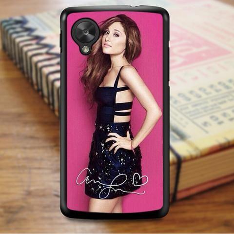 Ariana Grande Pink Signature Nexus 5 Case