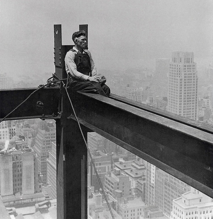 Moment of serenity.   The true builders of New York.