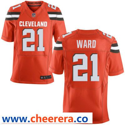Men s Cleveland Browns  21 Denzel Ward Orange Alternate Stitched NFL Nike  Elite Jersey 370f33e42