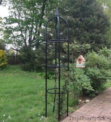 Merveilleux Garden Obelisk Trellis Large Vine Support Metal Climbing Plants Flower  Gardening | Outdoor Living And Metals