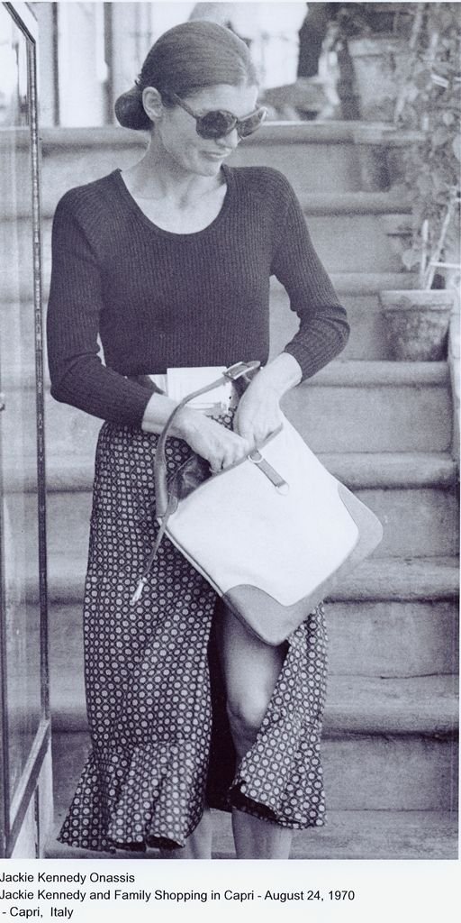 Jackie goes shopping in 1970