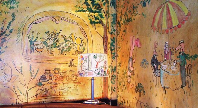 61 best lurcat jean images on pinterest tapestry for Bemelmans bar mural