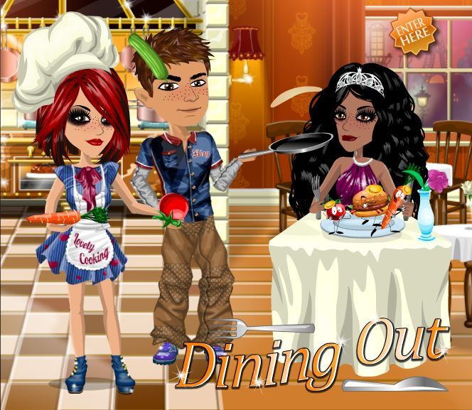 Dining out theme on #moviestarplanet #MSP www.moviestarplanet.com