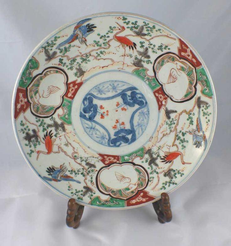 Antique Japanese Plates | large japanese imari plate late edo period japanese imari plate ...