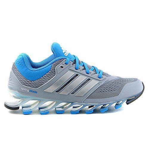GearCloset.net - Adidas Springblade Running Sneaker Shoe - Grey/Blue -  Womens -