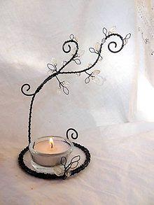 Svietidlá a sviečky - cukrová inovať...svietnik - 6288357_