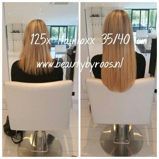 Haarverlenging met 125x Hairloxx hairextensions van 35/40cm Kleuren:London, Rome en Moscow